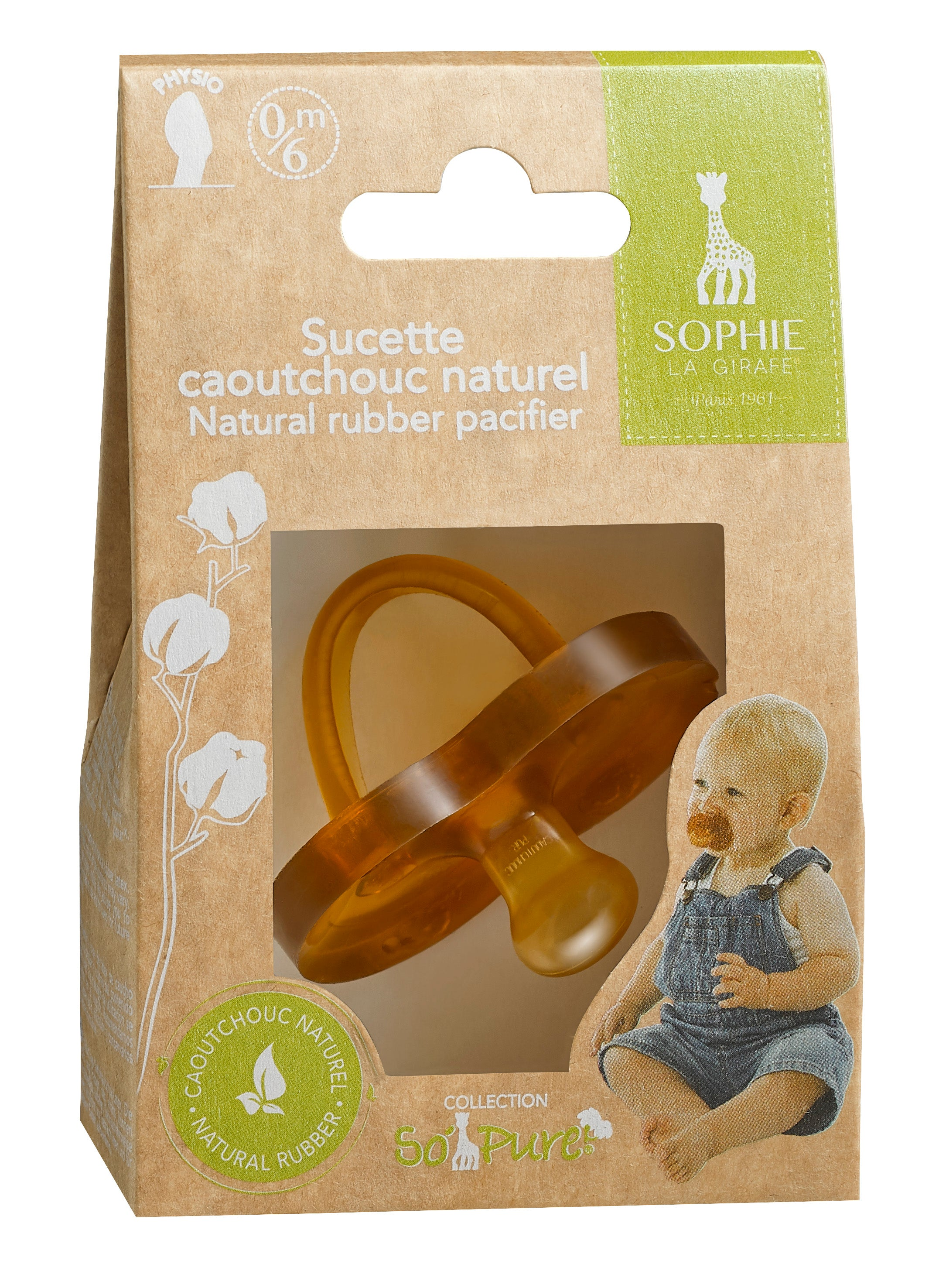 Sophie la girafe So' Pure Natural Rubber Pacifier 6-18m - The Mango Tree