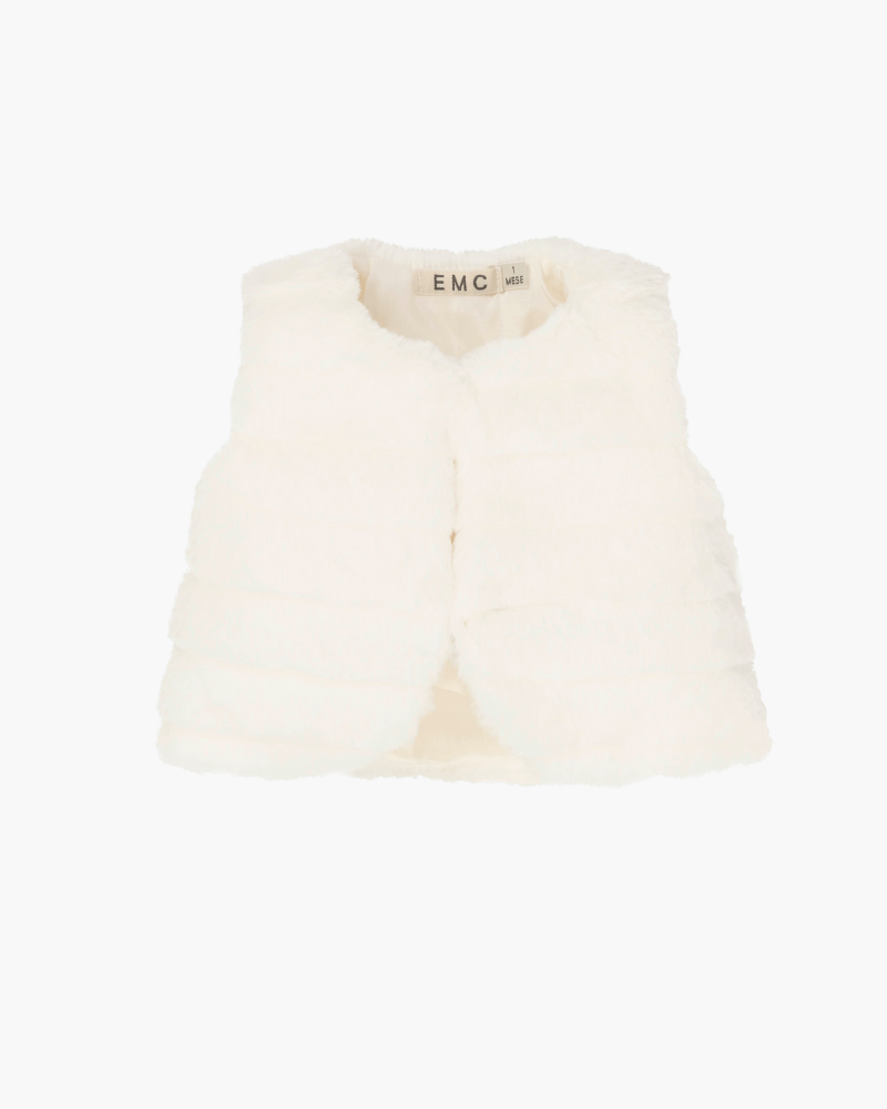 Everything Must Change White gilet - The Mango Tree