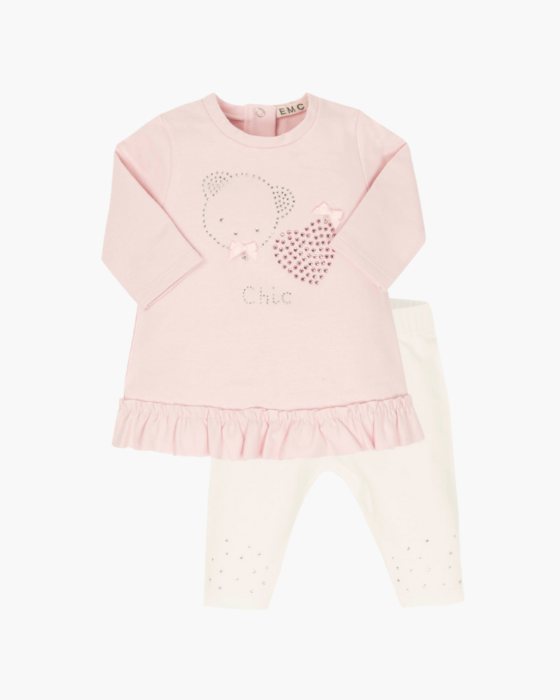 Everything Must Change pink/white legging set - The Mango Tree