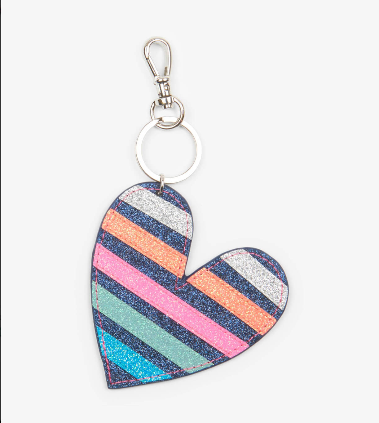 Hatley Glistening heart  bag charm - The Mango Tree