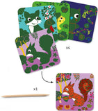 Djeco Country Creatures-Scratch Cards - The Mango Tree