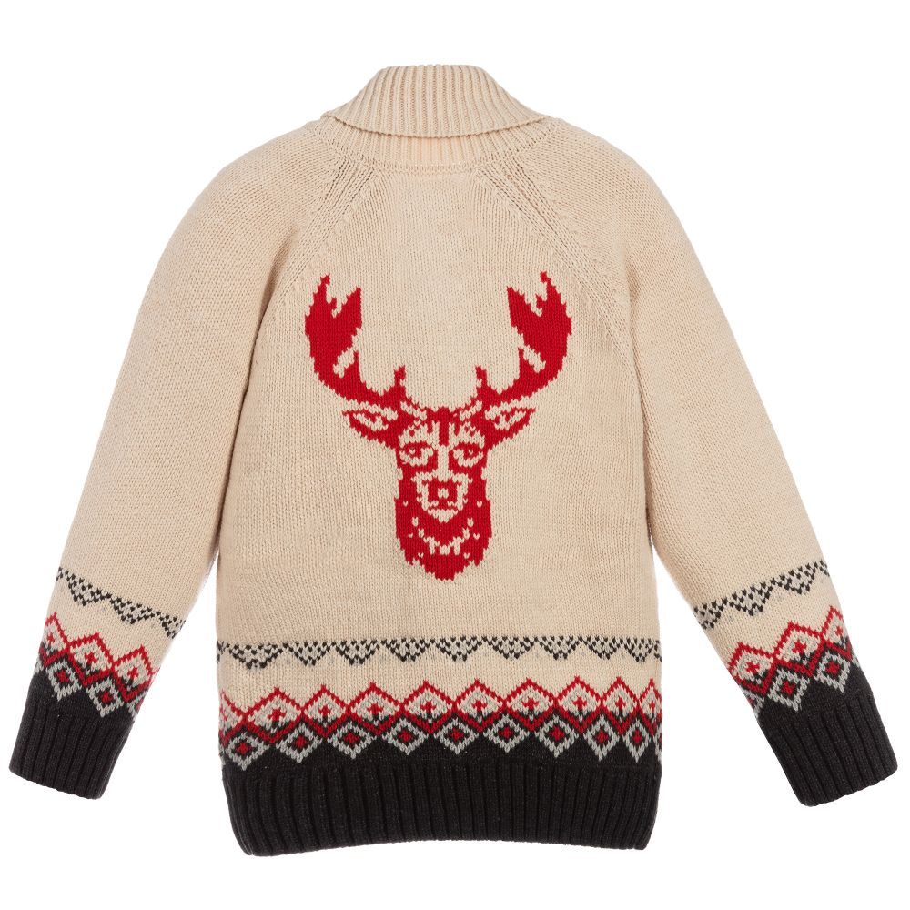 Hatley Stag Shawl Collar Cardigan - The Mango Tree
