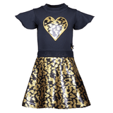 Lechic Reversible sequin heart dress - The Mango Tree