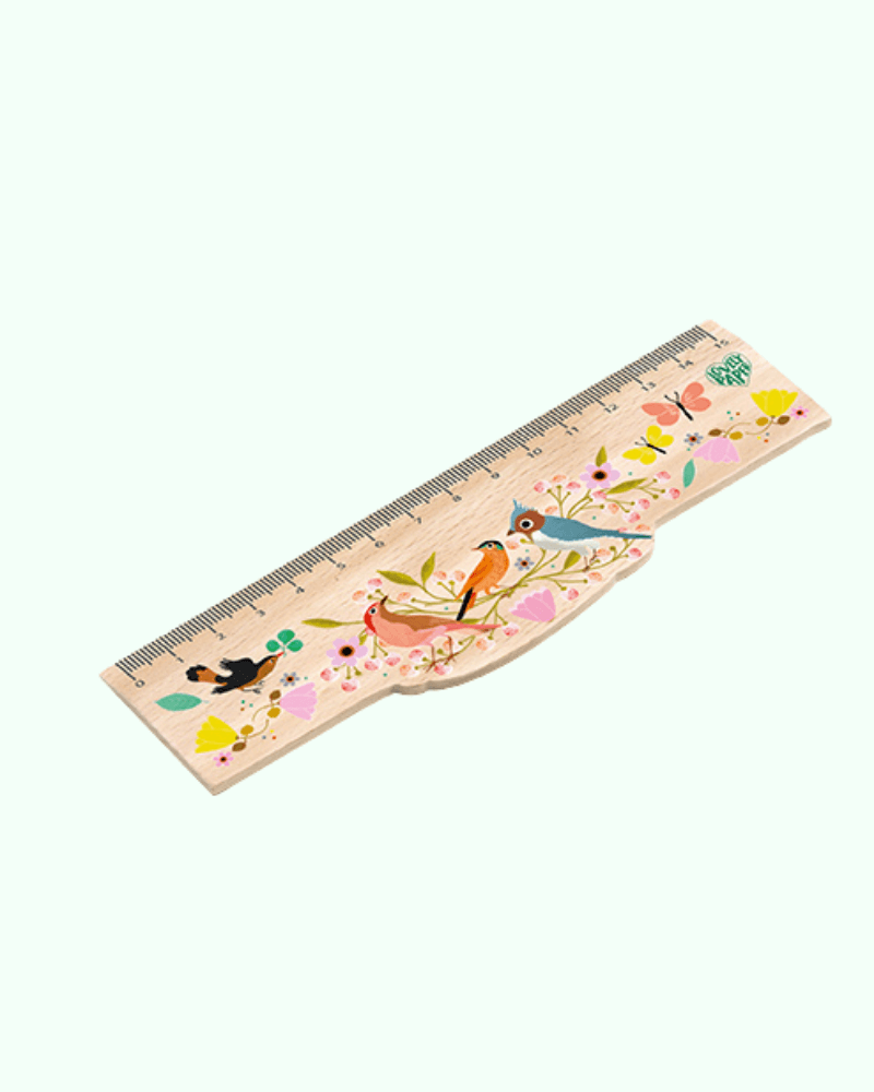 Tinou Wooden Ruler by Djeco - The Mango Tree