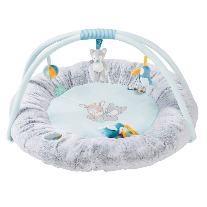 Nattou Tim and Tiloo - Stuffed Playmat With Arches - The Mango Tree