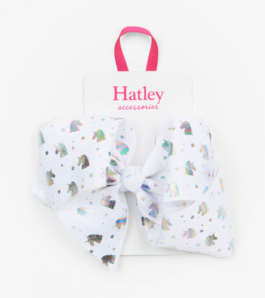 Hatley metallic unicorn bow hair clip - The Mango Tree