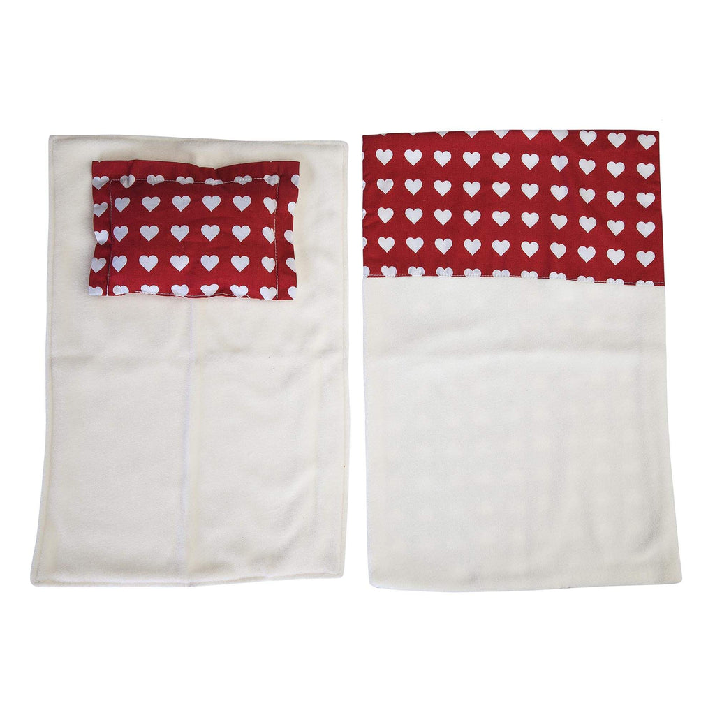 Moover doll Pram bedding set red - The Mango Tree