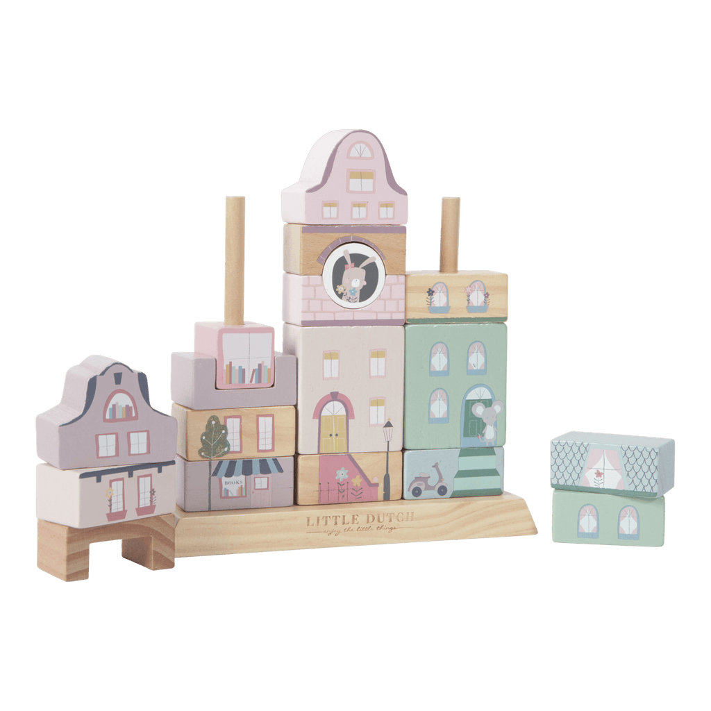 Little Dutch Stacking blocks Adventure Pink - The Mango Tree