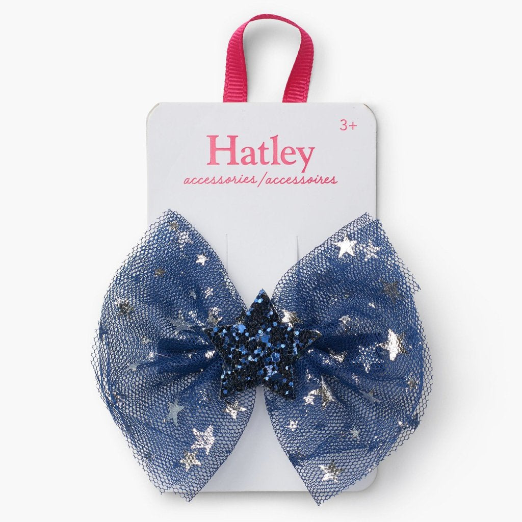 Hatley Midnight Sky Stars hair clip - The Mango Tree