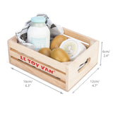 Le Toy Van Cheese & Dairy Market Crate - The Mango Tree