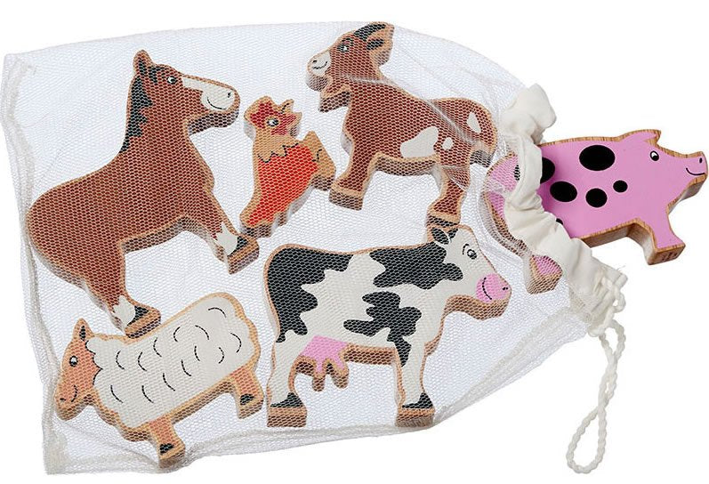 Lanka kade bag of 6 Farm animals - The Mango Tree
