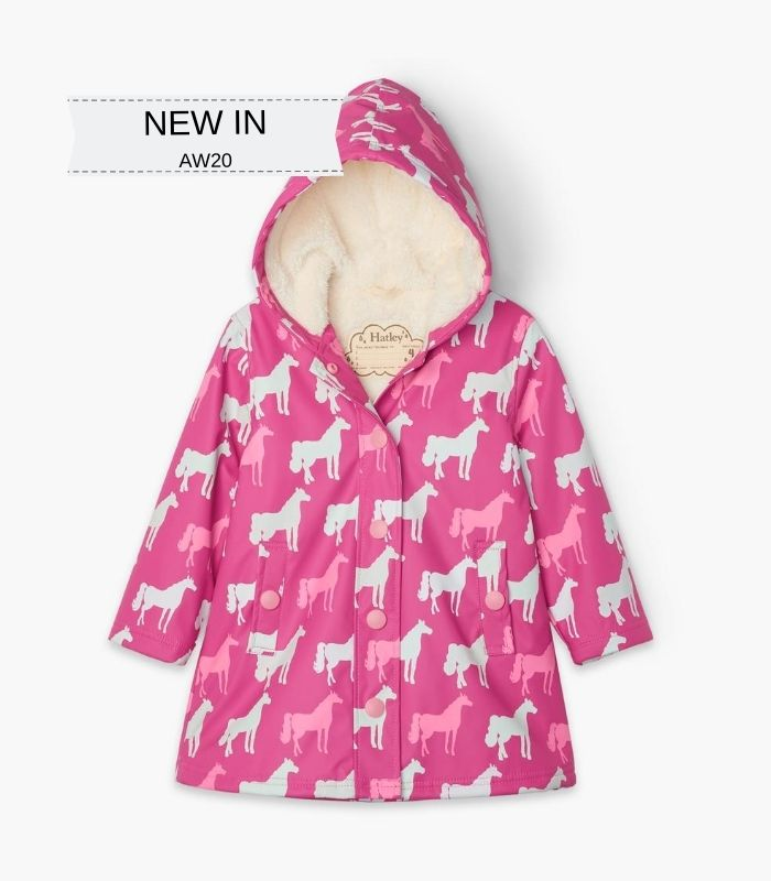 Hatley horse silhouettes colour changing coat - The Mango Tree