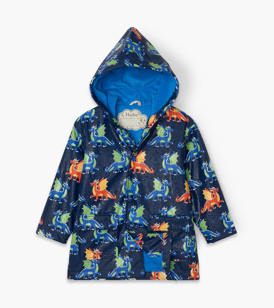 Hatley Dragons Colour Changing Raincoat - The Mango Tree
