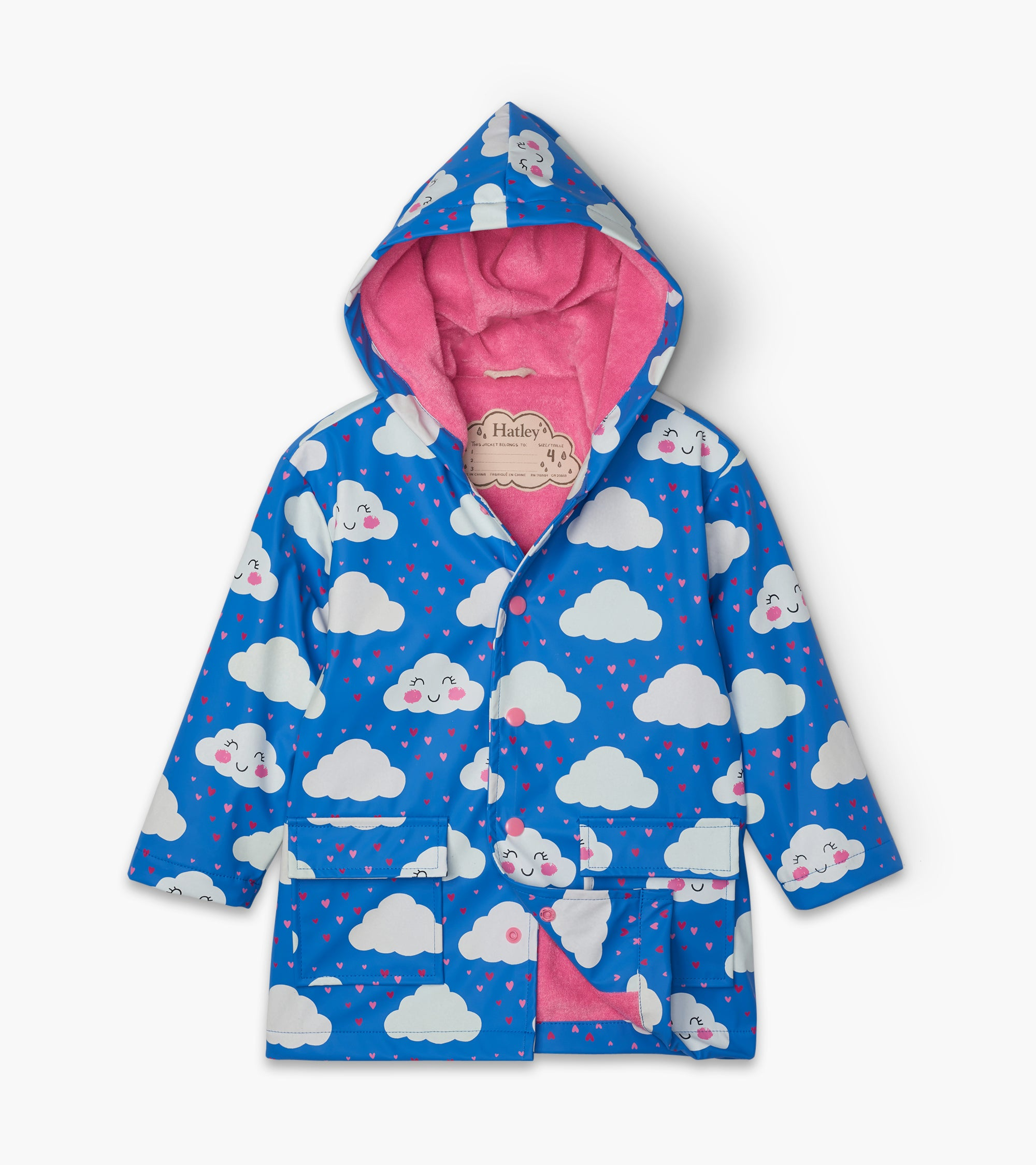 Hatley Cheerful Clouds Colour Changing Raincoat - The Mango Tree