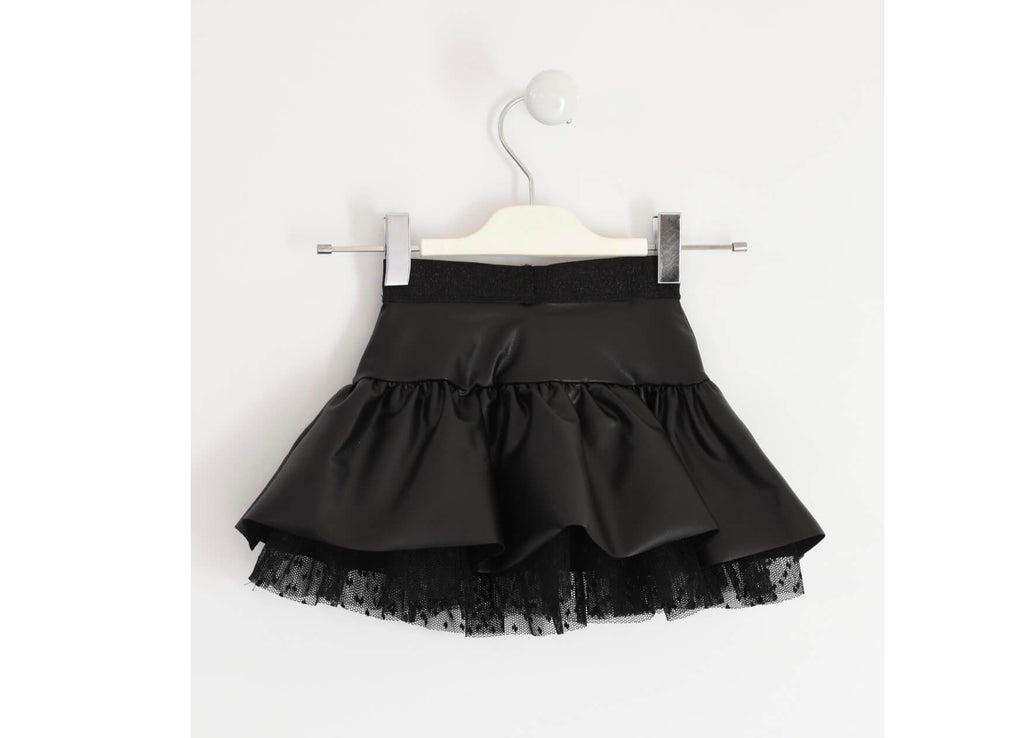 IDO - Black Faux Skirt - The Mango Tree