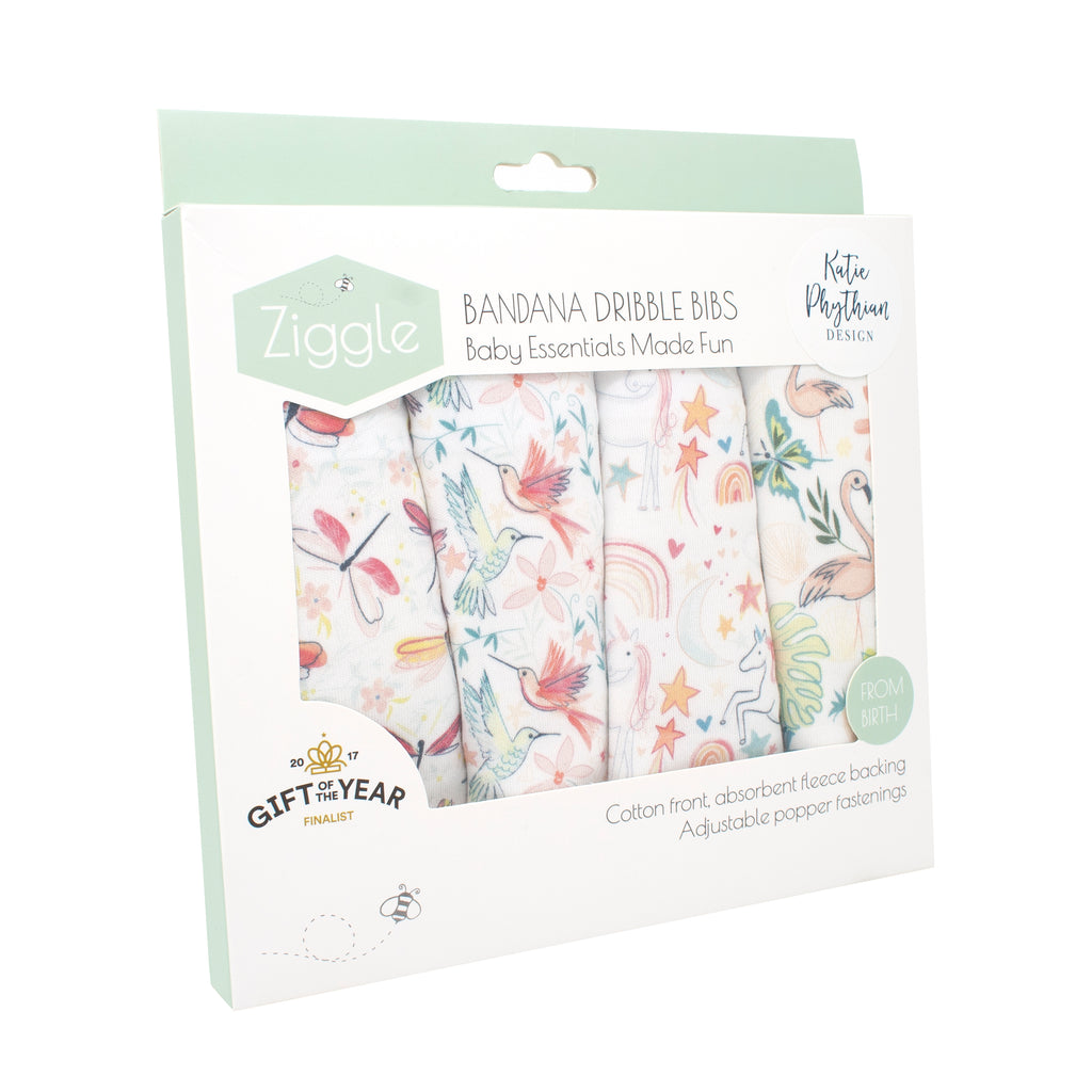Ziggle Pattern Boutique Bib Set by Katie Phythian Design - The Mango Tree