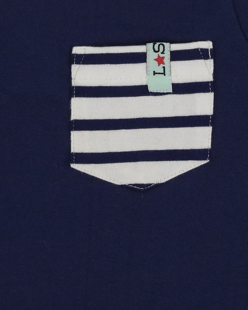 Lilly&Sid Striped Pocket Top - The Mango Tree
