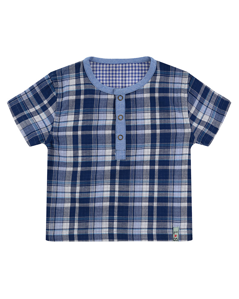 Lilly&Sid Bear Bottom & Woven Shirt Set - The Mango Tree