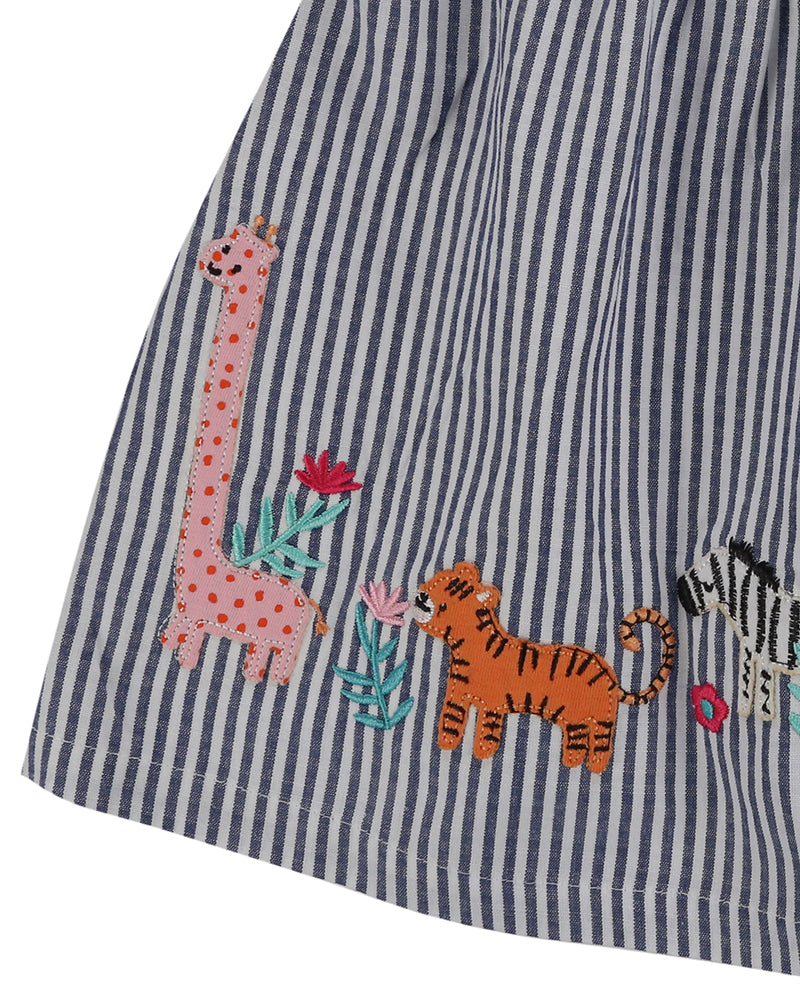 Lilly and Sid Applique Hem Dress - The Mango Tree