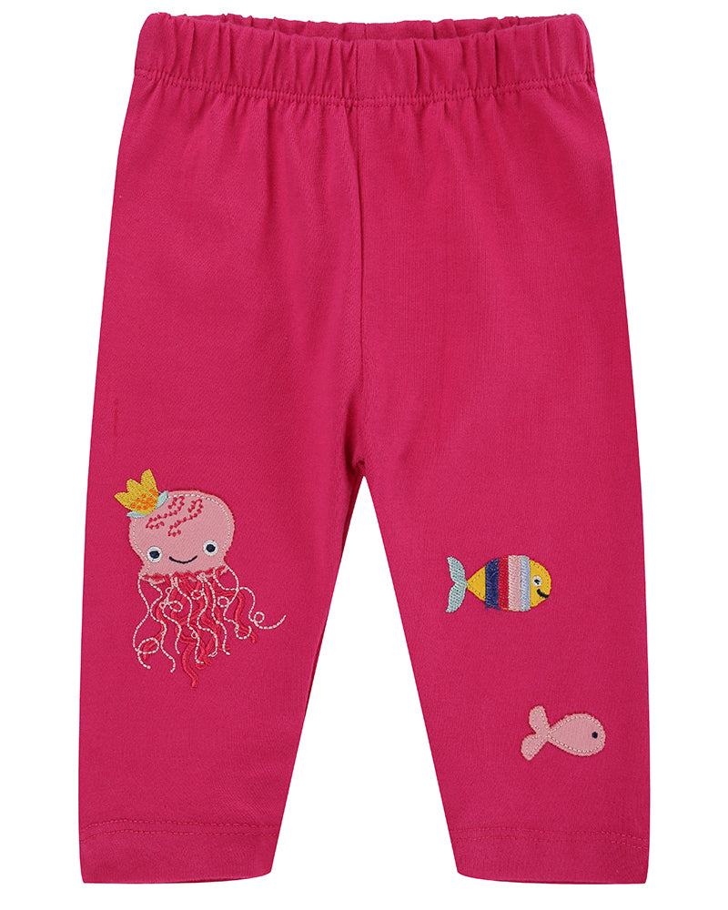 Lilly&Sid Jersey Leggings - Applique characters - The Mango Tree