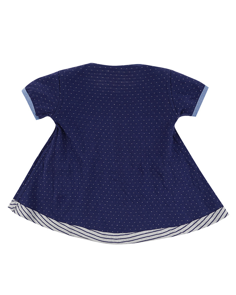 Lilly&Sid Reversible stripe/dot jersey dress - The Mango Tree