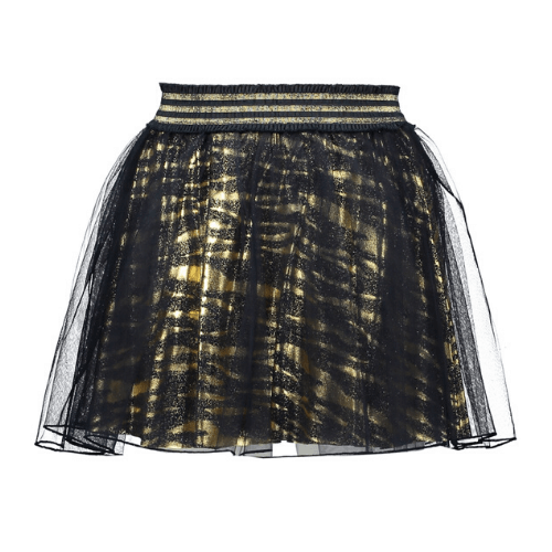 Lechic Gold Tiger Print  Skirt - The Mango Tree