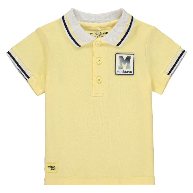 Mitch&son Polo Top with Rib Sleeve - The Mango Tree