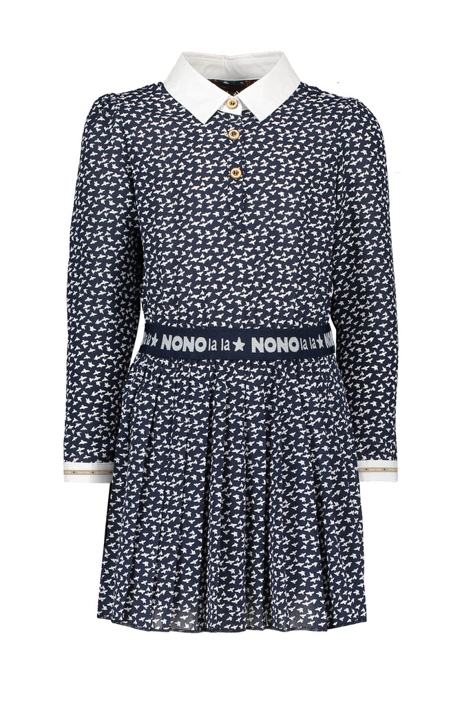 NONO Dress with Woven Collar - The Mango Tree