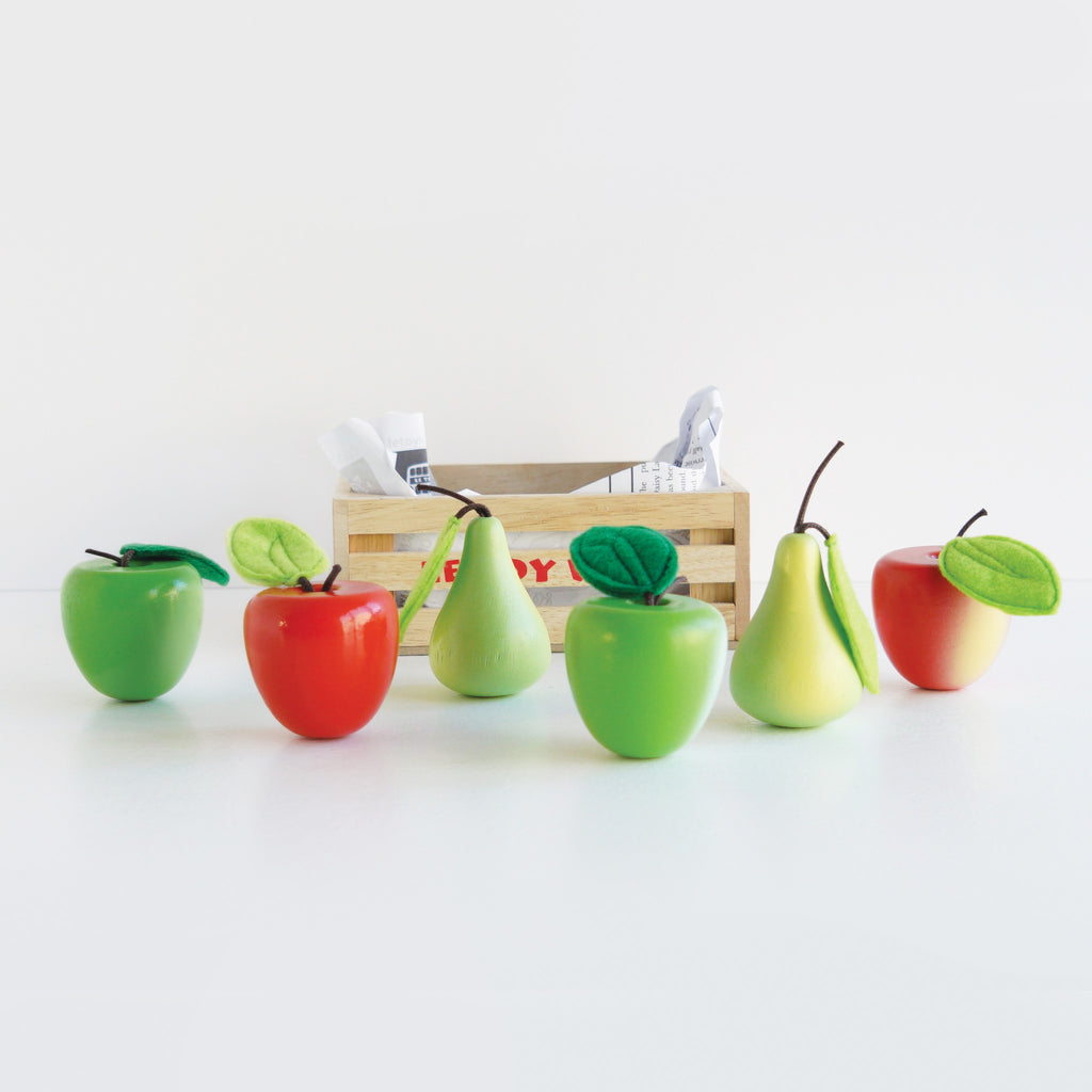 Le Toy Van Apples & Pears Market Crate - The Mango Tree