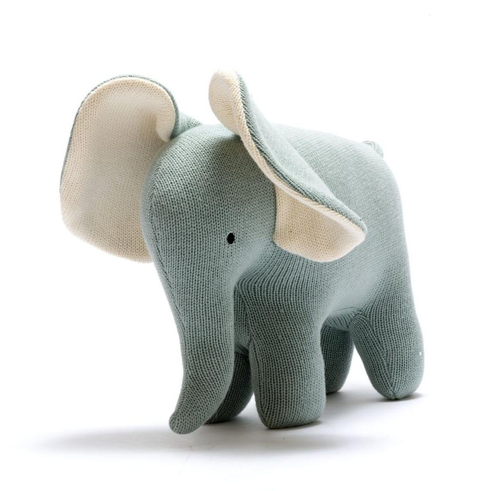 Best years knitted Elephant Teal - The Mango Tree