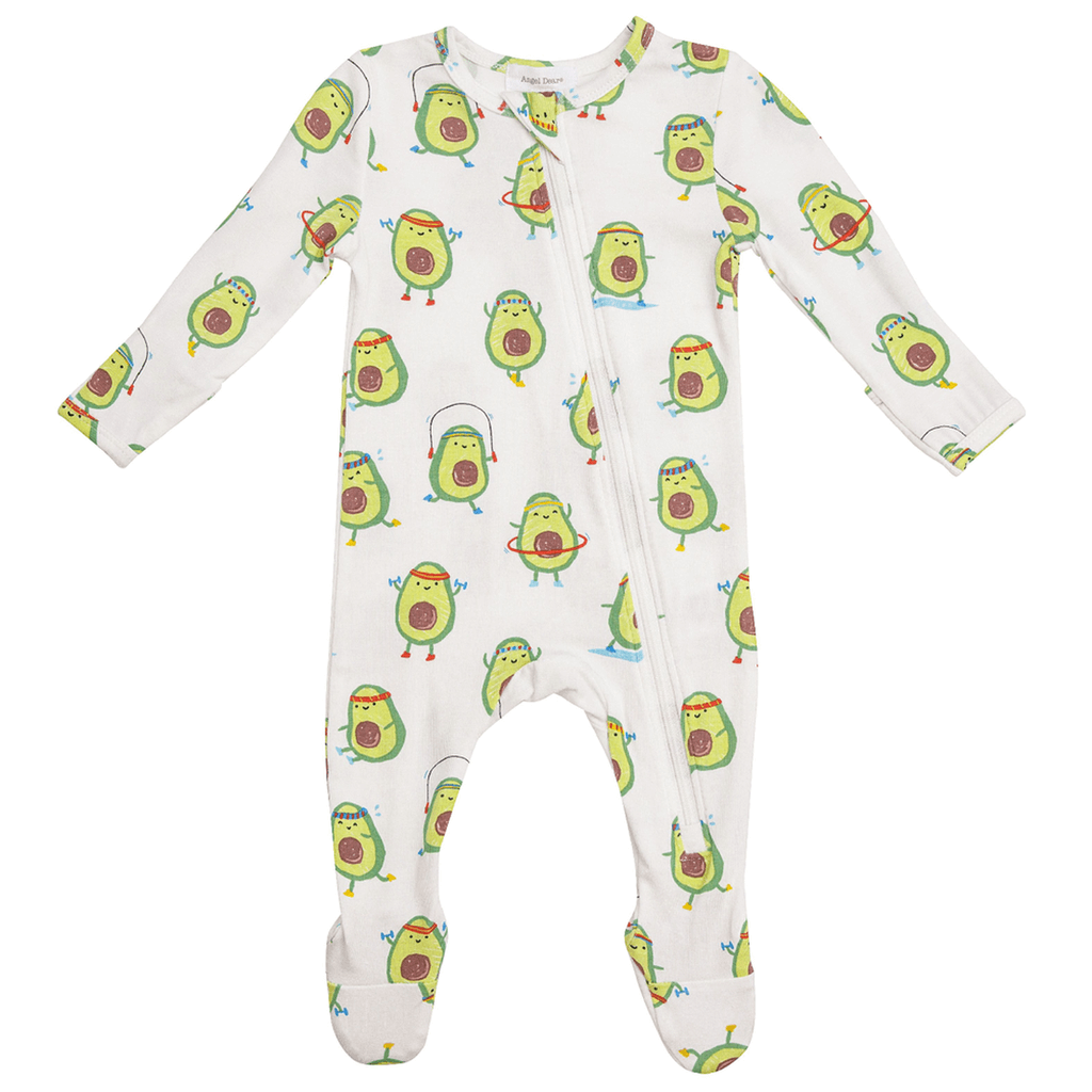 Avo-cise Zipper Babygrow - The Mango Tree