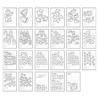 Orchard 1-20 Colouring Book - The Mango Tree