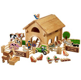 Deluxe Farm Set with Barn and Animals - The Mango Tree