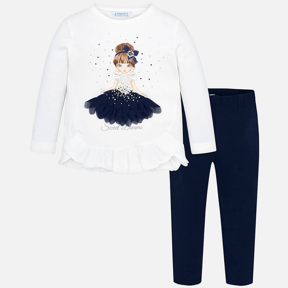 Mayoral Navy Ballerina legging set - The Mango Tree