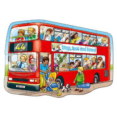 Orchard Red Bus Jigsaw Puzzle - The Mango Tree