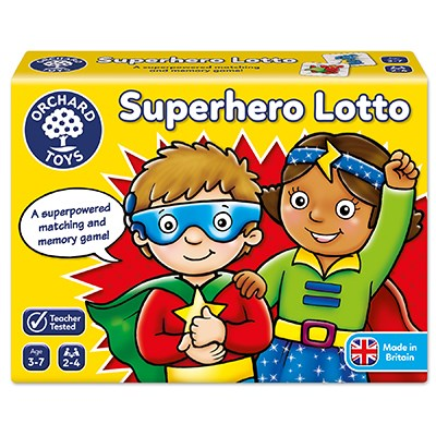 Superhero Lotto Game - The Mango Tree