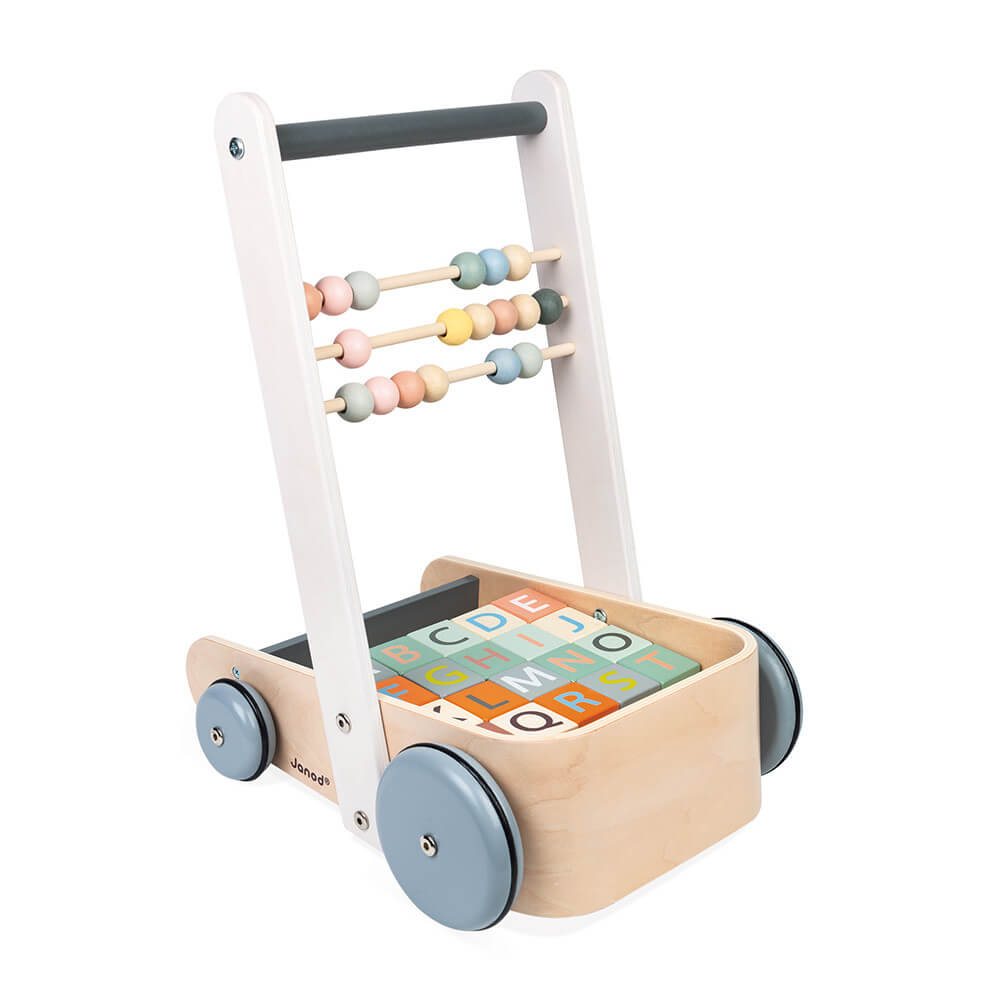JANOD Sweet Cocoon Cart With ABC Blocks - The Mango Tree
