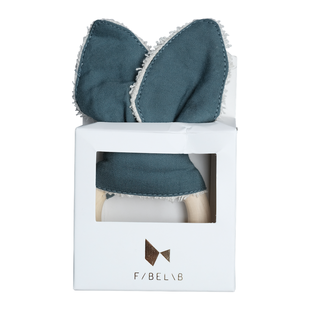 Fabelab Animal Teether - Whale Blue Spruce - The Mango Tree