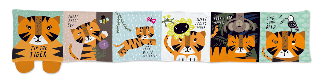 Wee gallery Soft Cloth Book - Tiger - The Mango Tree