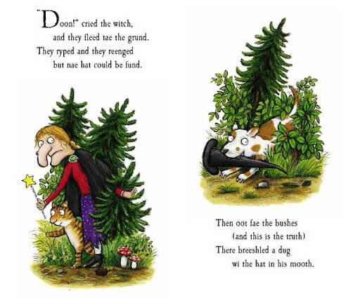ROOM ON THE BROOM Scots  (Story Sack) - The Mango Tree