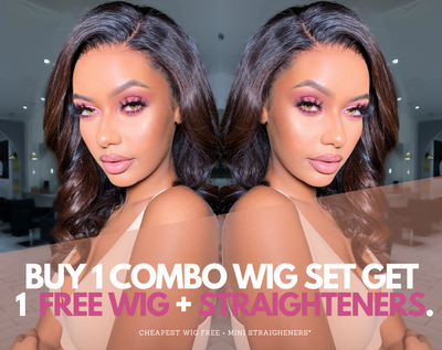 NEW* BUY 3 GET 1 WIG FREE + STRAIGHTENERS