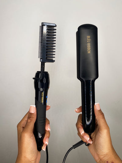 HOT COMB & STRAIGHTENERS: COMBO SET