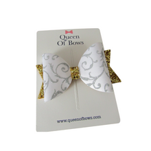 Load image into Gallery viewer, Large filigree bow hair clips for girls and women