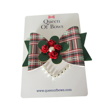 Load image into Gallery viewer, Large tartan bow hair clips for girls and women