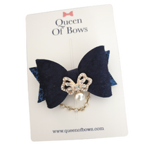 Load image into Gallery viewer, Beautiful Velvet and Glitter Bow Hair clips for girls and women