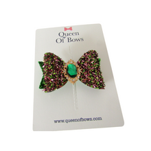 Load image into Gallery viewer, Beautiful tinsel bow hair clips for women and girls