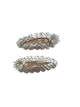 Load image into Gallery viewer, Silver and gold crown snap clip sets for girls