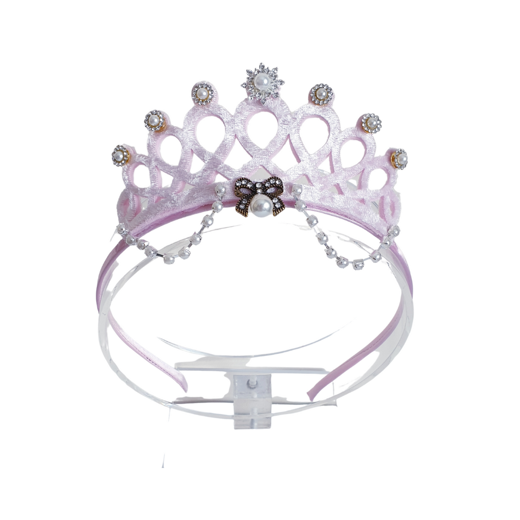 Beautiful pink tiara crown for girls