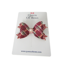 Load image into Gallery viewer, Tartan bow hair clips for women and girls