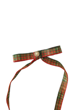 Load image into Gallery viewer, The Hermoine Bow. Long tailed Tartan Bow Hair Clips
